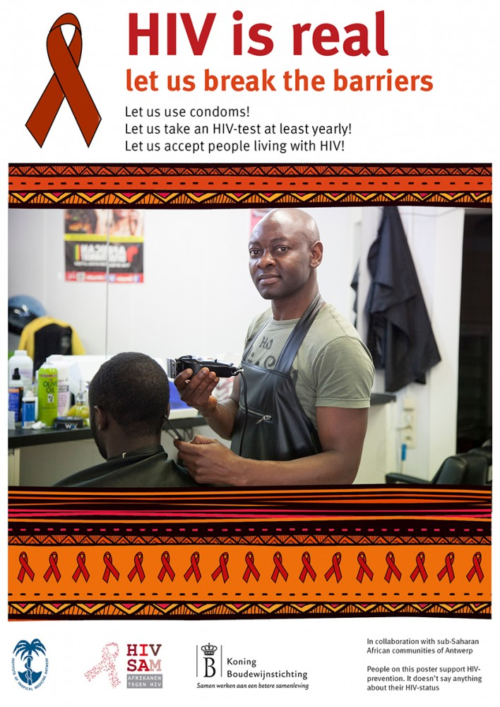 An HIV prevention campaign poster developed by community members.